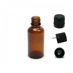 Flacon en verre brun 10ML avec goutteur