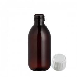 Flacon verre brun 250ML avec bouchon inviolable