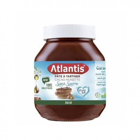 Chocolat à Tartiner sans sucres ajoutes Atlantis, pot de 350g