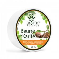 Beurre de karité désodorisé, 60g - Aroma Végétal