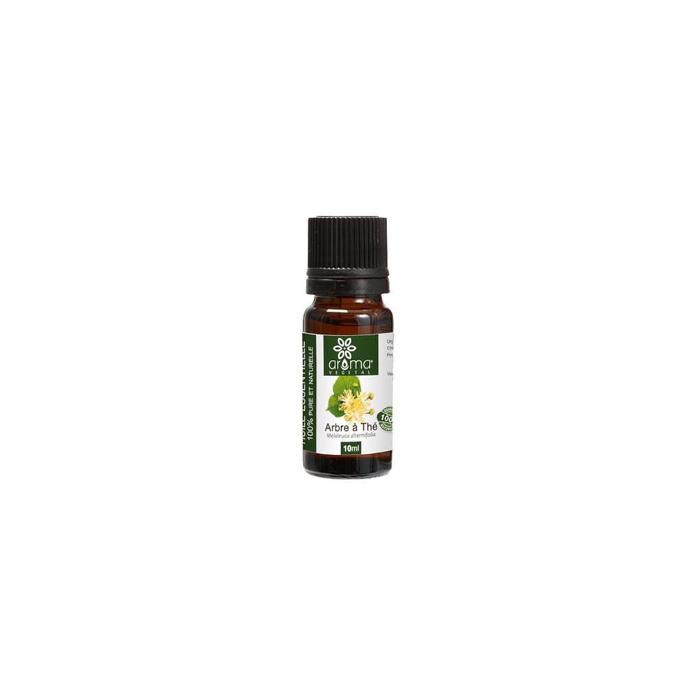 Huile essentielle de tea tree arbre th 10ml aroma v g tal - Huile arbre a the ...