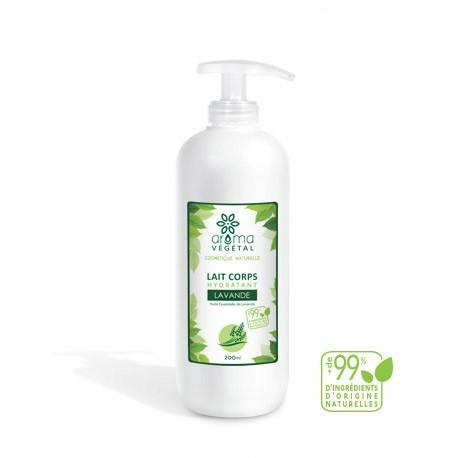 Lait Corps Hydratant à la Lavande, 200ml - Aroma Végétal