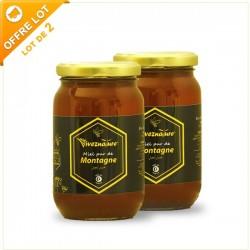 Miel de Montagne 2x500g - Vivez Nature