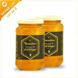 Miel de Flleurs d'Oranger, lot 2x500g - Vivez Nature