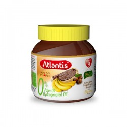 Chocolat à Tartiner Banane sans huile de palme Atlantis, pot de 300g
