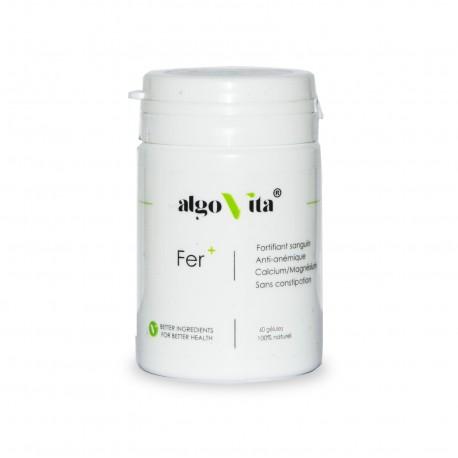 Fer+ Complément Alimentaire, 60 gélules - AlgoVita