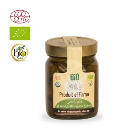 Olives Vertes Marinées Biologiques, 180g - El Firma Bio