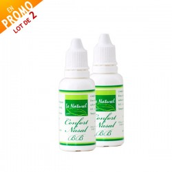 Lot de 2 Confort Nasal Mentholé, 2x30ml - Le Naturel