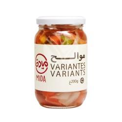 Variantes de Légumes en Saumure, Paquet 200g - Mida
