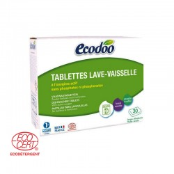 Tablettes Lave Vaisselle Ecologiques, 30 Tablettes - Ecodoo