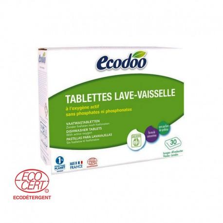 Tablettes Lave Vaisselle Ecologiques, 30 Tablettes - Ecodoo