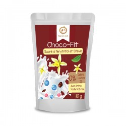 Choco-Fit, Chocolat en Poudre Goût Vanille, 110g - Merci Fit