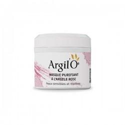 Masque Visage Purifiant à l'Argile Rose, 130g - Argil'O