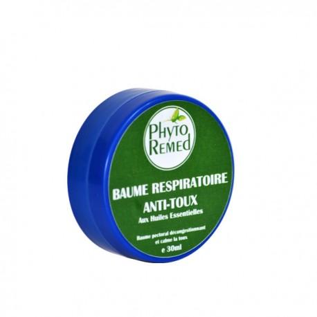 Baume Respiratoire Anti-Toux aux Huiles Essentielles, 30ml- PhytoRemed