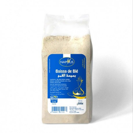 Bsissa de blé biologique Napolis, paquet 500g